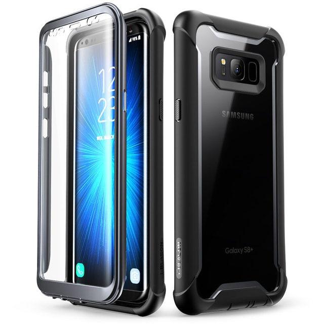"Original I BlasonสำหรับSamsung Galaxy S8กรณี5.8 ""Ares Series Bumper Bumper Case built In Screen Protector"