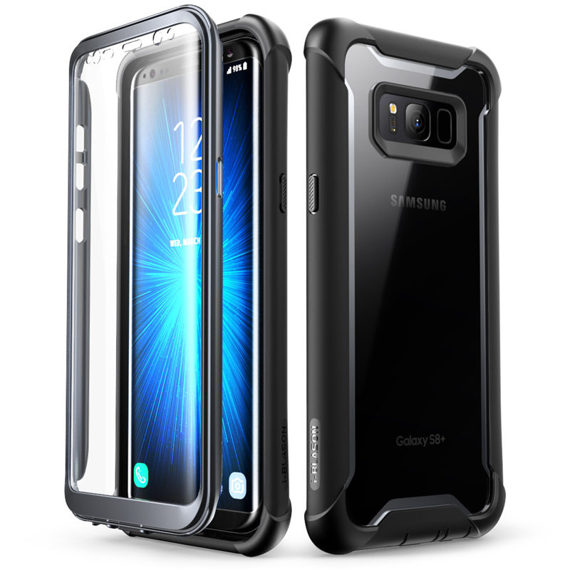 """Original i Blason For Samsung Galaxy S8 Case 5.8"""" Ares Series Full Body Rugged Clear Bumper Case with Built in Screen Protector-in Fitted Cases from Cellphones & Telecommunications"""
