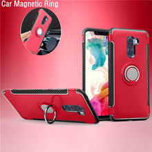 POCOPhone F1 Case Armor Full Protection Ring Magnetism Holder Shockproof TPU PC for Xiaomi POCO Phone