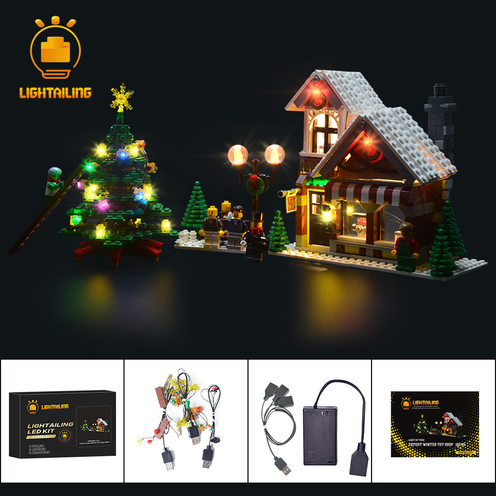LIGHTAILING LED Light Up Kit For Creative Series Christmas Winter Toy Store Building Light Set Compatible