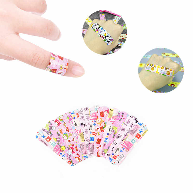 10Pcs Cartoon Band Aid Waterproof Breathable Bandage Hemostasis Adhessive Sticking Plaster Essential First Aid Family Pack