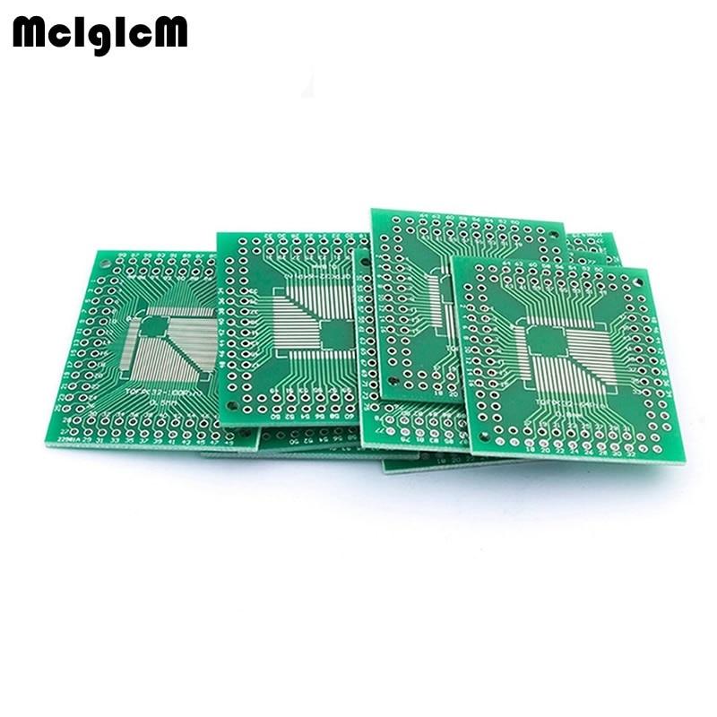 MCIGICM 10PCS FQFP TQFP 32 44 64 80 100 LQFP To DIP Transfer Board DIP Pin Board Pitch Adapter NEW