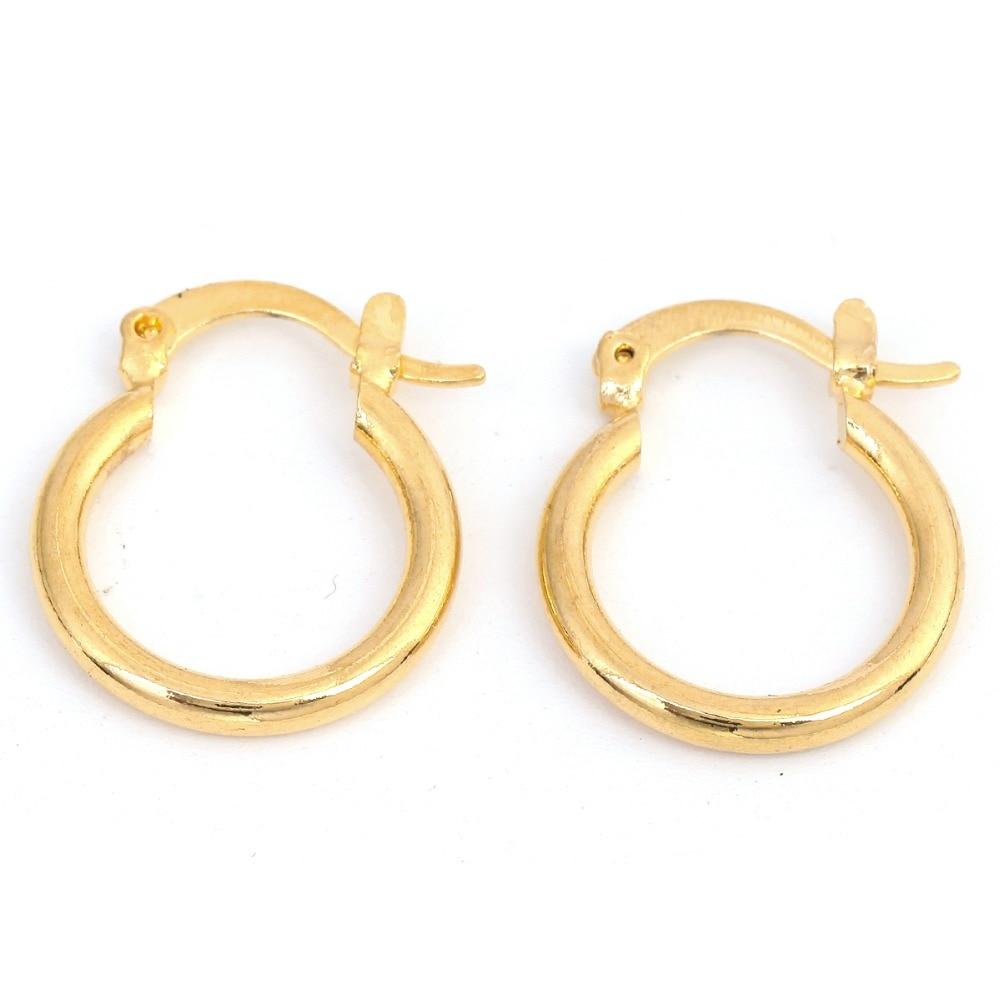 24 K Altın Küpe Moda Yeni Model Küpe Dubai Etiyopya Afrika Avrupa - Kostüm mücevherat - Fotoğraf 6