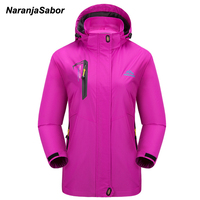NaranjaSabor 2018 Spring Womens' Jackets Waterproof Women Coats Breathable Casual Coat For Women Clothing Female Sportswear 4XL