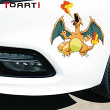 12.7cm*13.6cm Pokemon Charizard Car Stickers Cartoon Charizard Decals Creative Laptop Notebook Bumper Car Styling lno 217pcs charizard pokemon building block