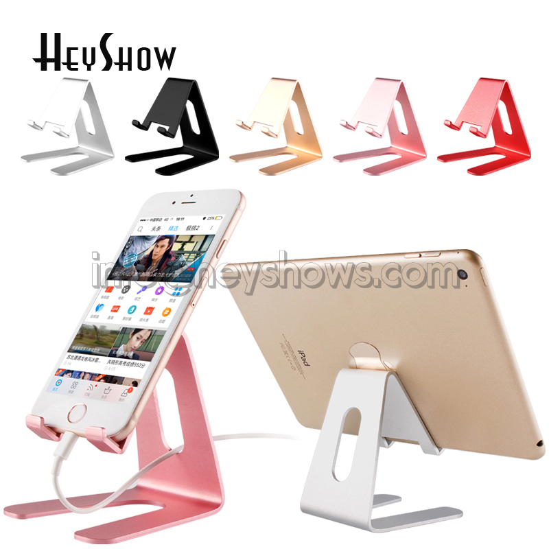 10x Universal Mobile Phone Holder Stand Aluminium Tablet Desk Holder For Phone Charging Stand Desktop Mount For iPhone Ipad universal mobile phone cell phone holder stand black