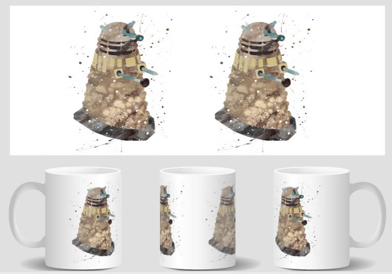 Dalek Doctor Who mugs heat changing color heat reveal kid magic tea coffee ceramic kid novelty