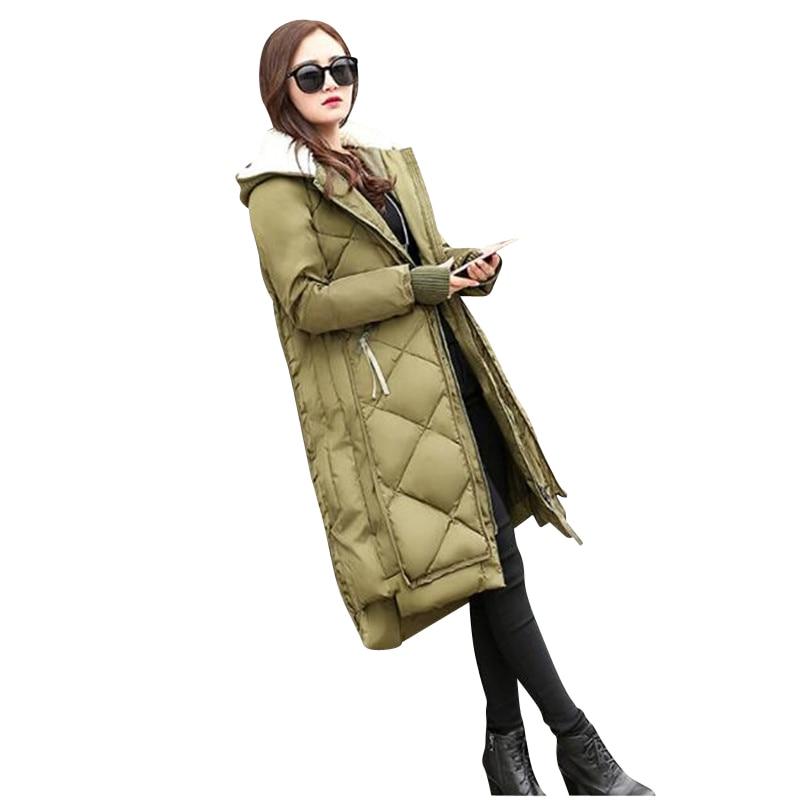 2017 Winter Women's Dress New Jacket, South Korean Version Hat Thick Warm Cotton Clothes, Fashionable Loose Long Cotton Jacket, filodoro demetra 40 д