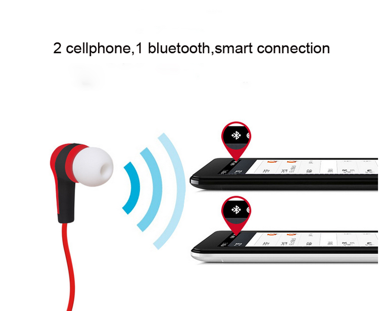 Wireless Sport Bluetooth Earphone Super Bass HIFI Stereo Sound Music Headset With Microphone Subwoofer Earphones For Phone