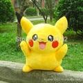 40 См pokemon Бика Цю питания подлинная плюшевые игрушки куклы подарок на день рождения, чтобы Король Пикачу Мягкие Игрушки бесплатная доставка