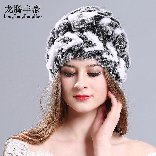 11 colores tejer lana gorros femeninos casquillo del sombrero ruso ...
