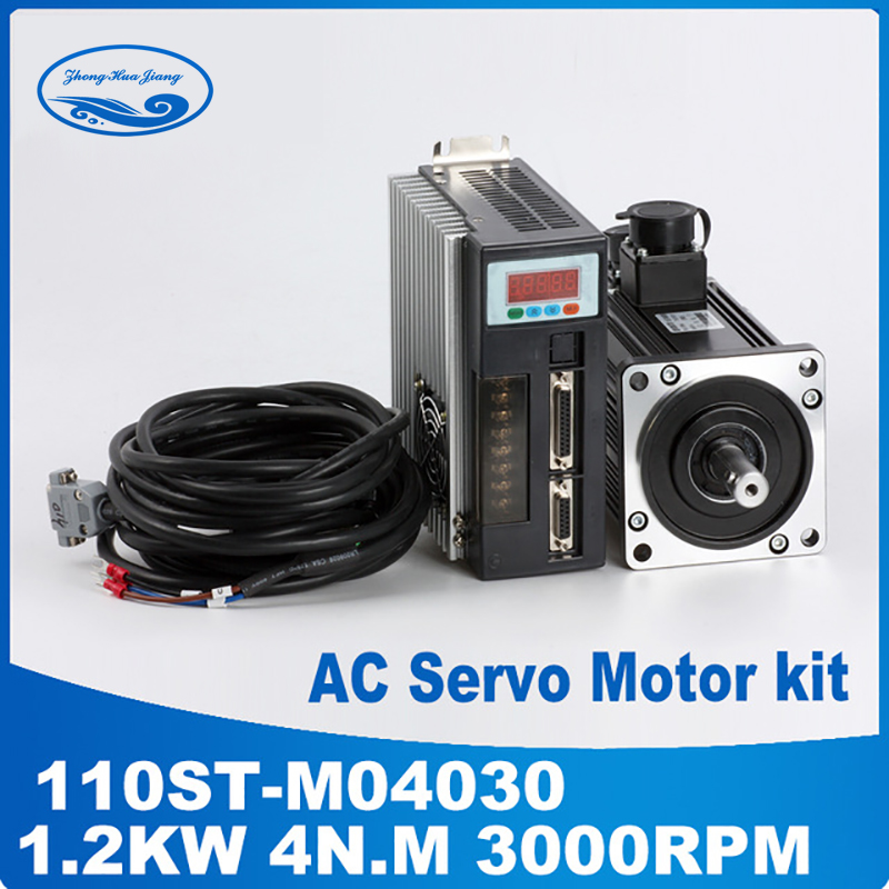 цена на 1.2kw ac servo motor kit servo motor ac 110ST-M04030 4N.M three & single phase ac motor