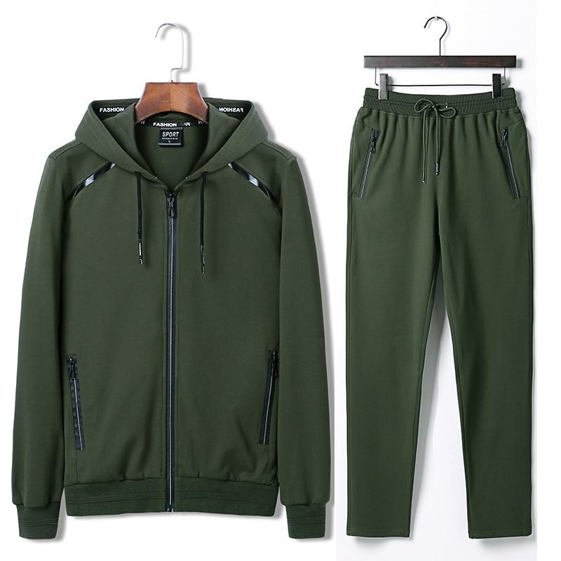 7XL 8XL 9XL Hoodies Set Mens Sport Suit Loose Big Size Sportsuit 2018 New Sportswear Gym Clothing Men Run Sets 140kg Can Wear
