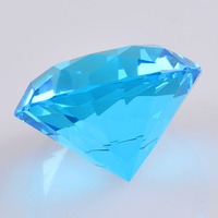 50mm Colorful Crystal Diamond Pink Red Blue Paperweight Giant Jewel For Happy Birthday Wedding Party Favour Decoration Gift toys
