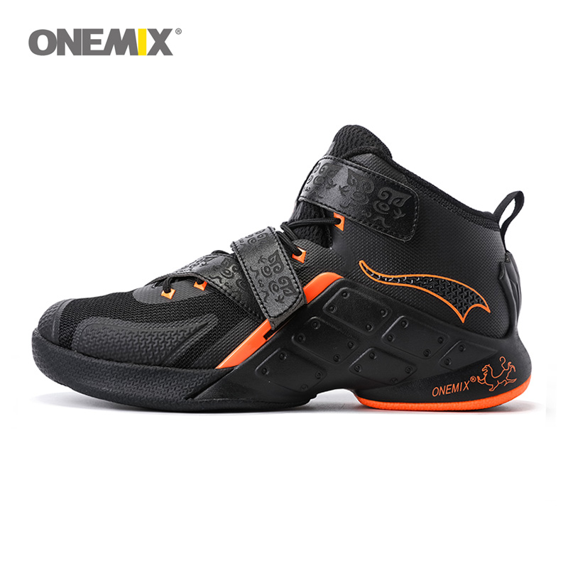 ONEMIX Men Basketball Shoes Male Ankle Boots Anti-slip Outdoor Sport Sneakers Men Athletic Shoes High-Top Rubber Sneakers 1133 peak sport professional men women basketball shoes cushion 3 revolve tech sneaker breathable athletic ankle boots size eur 40 48
