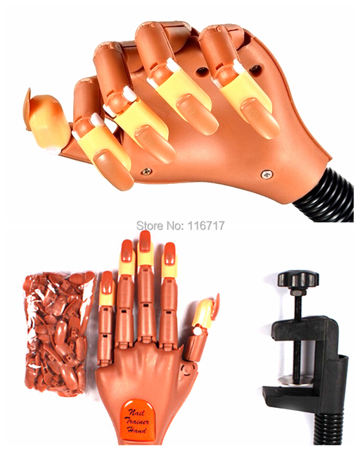 Refill False Nails For Fake Hand Practice Use Nail Training Hand ...