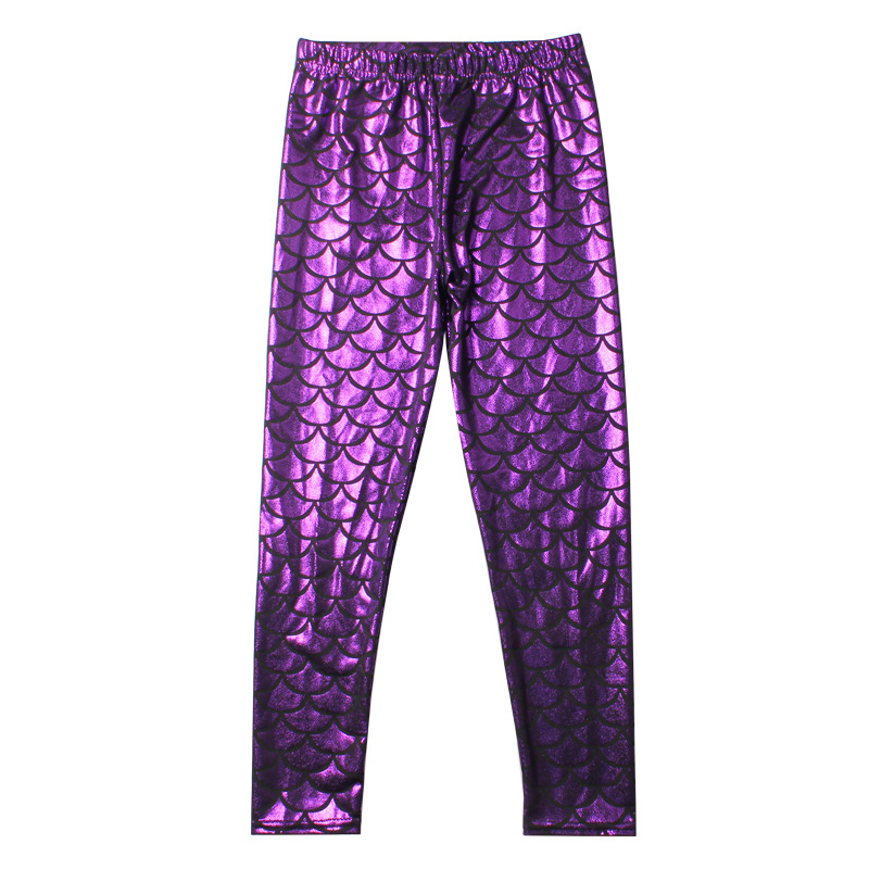 2019 new girls leggings trousers yoga pants digital mermaid printing high waist stretch sporting trousers autumn winter in Pants from Mother Kids