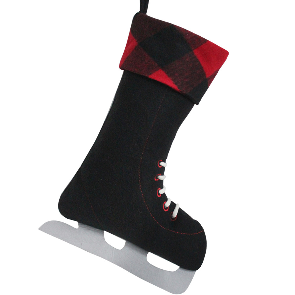 Free Shipping! 2 pcs/lot Black Ice Skate Tie Decoration Design Plaid ...