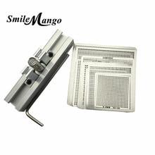 29pcs Universal Direct Heating BGA Stencils Templates + Reballing Jig For Chip Rework Repair Soldering Kit