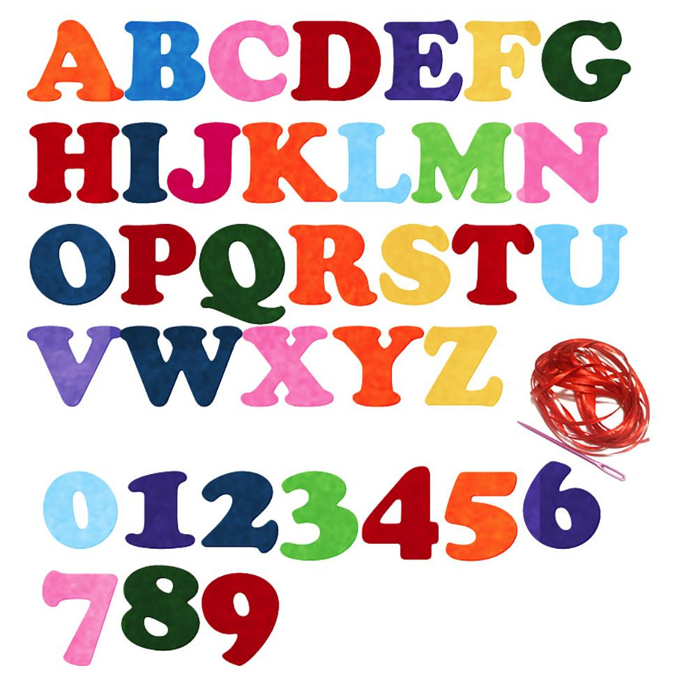 Fabric Amicable 130pcs Colorful English Alphabet Diy Handmade Non-woven Designs Kids Early Learning Alphabet Nonwoven Diy Felt Fabric