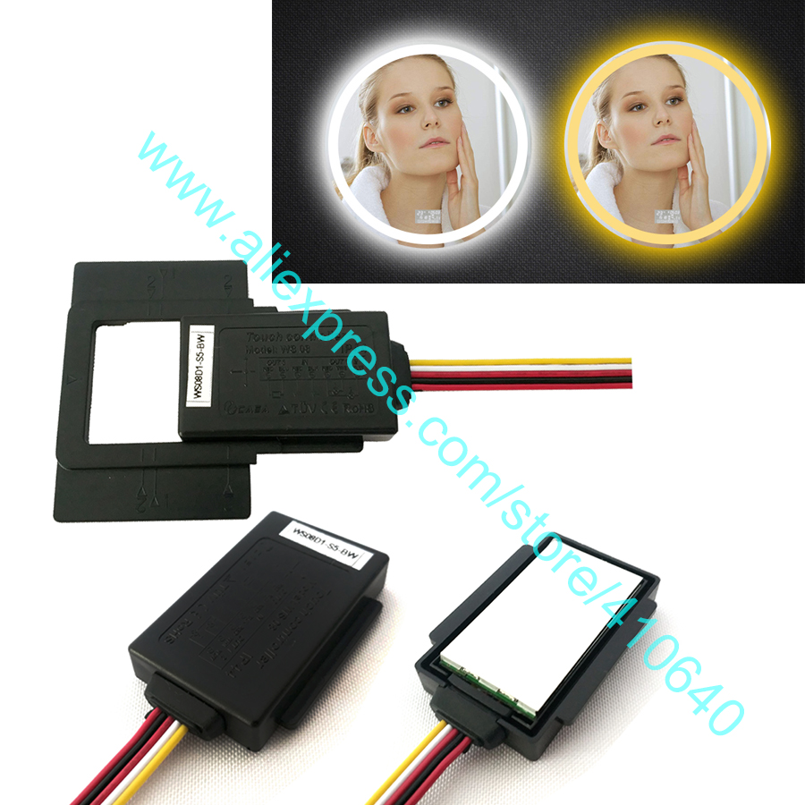 1 Piece CAN ADJUST colder Or warmer LIGHT COLOUR Bathroom LED Mirror Touch Dimmer Sensor Touch