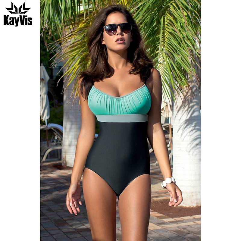 KayVis New One Piece Swimsuit 2017 Sexy Swimwear Women Stripe Retro Bathing Suit Swim Vintage Beach Wear Pink Halter Monokini peny skateboard wheels longboard 22 retro mini skate trucks fish long board cruiser complete tablas de skate pp women men skull