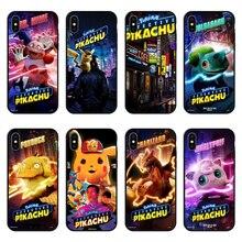 2019 Newest black Soft TPU Phone Case For iPhone XS MAX Super cute Detective Pikachus 6 6S 7 8 Plus X XR