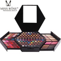 MISS ROSE 144 Colors Set Eyeshadow With 3 Color Blush 3 Color Eyebrow Makeup Shimmer Matte