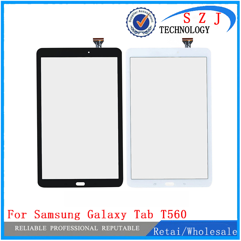 New 9.6'' inch Touch Screen Panel glass Digitizer with flex cable For Samsung Galaxy Tab E 9.6 SM-T560 T560 Free Shipping for samsung galaxy tab 4 10 1 sm t530 t531 t535 t530 touch screen digitizer lcd glass front panel 1 piece free shipping