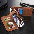 Superior de couro de luxo case multi funcional removível magnética carteira virar titular do cartão capa para iphone6 6 plus 6 s plus 5 5S
