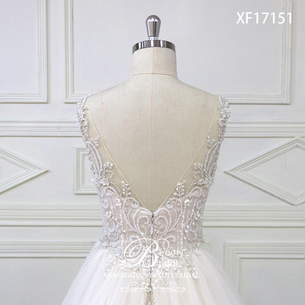 Eslieb High-end op maat gemaakte diepe V bruids Boho trouwjurk 2018 - Trouwjurken - Foto 6