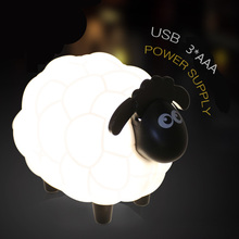 2018 New Cartoon Sheep Led Night Light USB Children Bedroom Desk Lamp Protect Eye Lamp Best Gifts For Children Kids Student