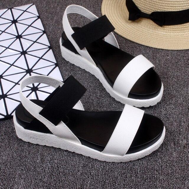 2017 New Hot Sale Sandals Women Summer Slip On Shoes Peep-toe Flat Shoes Roman Sandals Mujer Sandalias Ladies Flip Flops Sandal