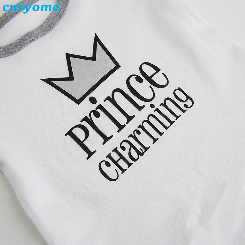Cutyome Summer 2017 Baby Boys Rompers Prince Charming Letter Printed Infant Jumpsuits Clothes Cotton Boy Overalls 4-18M  (9)