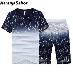 NaranjaSabor новые летние мужские Шорты повседневные костюмы Спортивная мужская одежда мужские комплекты Брюки Мужская толстовка мужская