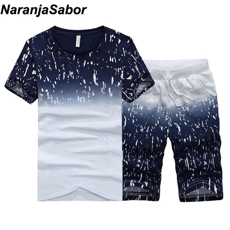NaranjaSabor verano nuevos pantalones cortos de Hombre Trajes casuales ropa deportiva para hombre conjuntos de pantalones de hombre Sudadera Hombre ropa de marca 4XL