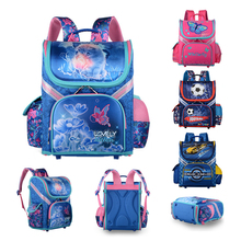 2018 Childrens Backpack Kids Cartoon School Bags For Boys 3D Car Orthopedic Schoolbag Black Bolsa Escolar