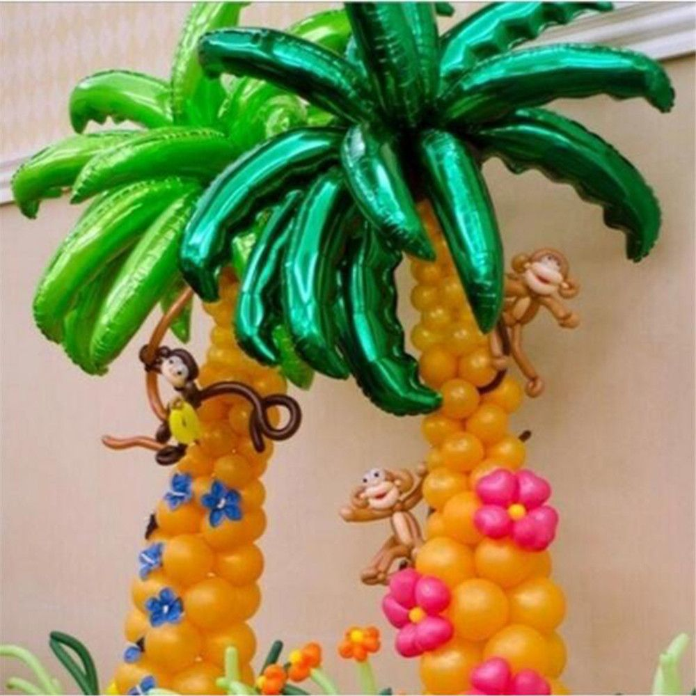 36 inch coconut tree leaf Foil balloons Birthday Party Wedding Room ...
