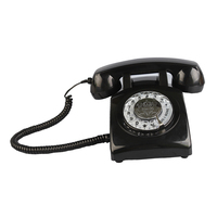 Retro Rotary Dial Bell Home Phones Old Fashioned Classic Corded Telephone Vintage Landline Phone for Home Decor and Office Use