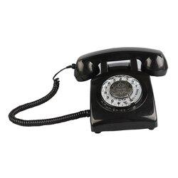 Telefones Retro Rotativo Sino Casa Antiquado Clássico com Fio de Telefone Fixo Do Vintage para a Decoração Da Casa e Uso de Escritório