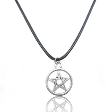 Anime Game Movie Jewelry Charm Kuroshitsuji Satan Symbol Necklace Pendant Round Star Women Necklaces 2018 E086
