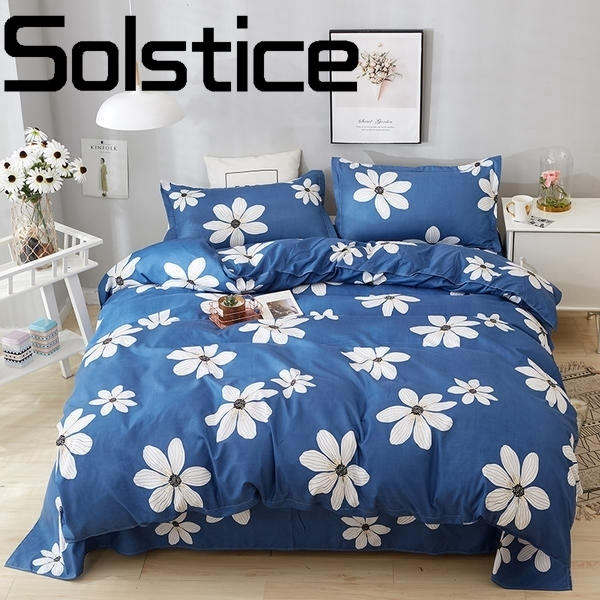 Solstice Home Textile Aloe cotton skin-friendly soft and comfortable simple apply bed linen pillowcase bedding four sets