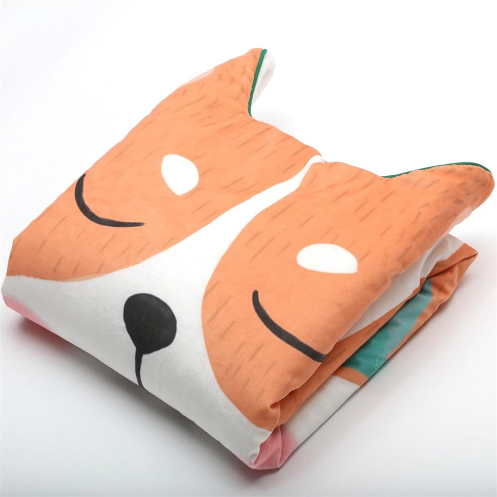 115X75cm Unique Design Nordic Thermal Baby Duvet With Insert Cartoon Newborn Comforter Child Quilt Fox Bear Panda Kids Bedding