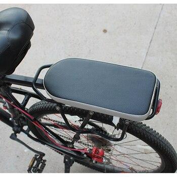 Asiento bicicleta niño ciclismo de la parte posterior de la bicicleta de cojín en el estante de atrás Mat de asiento de bebé