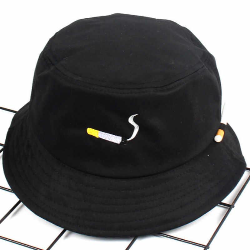 Moda Nakış YOK CHILL Kova Şapka Hip Hop Plaj Kadın Panama Açık Spor Düz Üst Balıkçılık Erkek Kap Balıkçı güneş şapkası bob