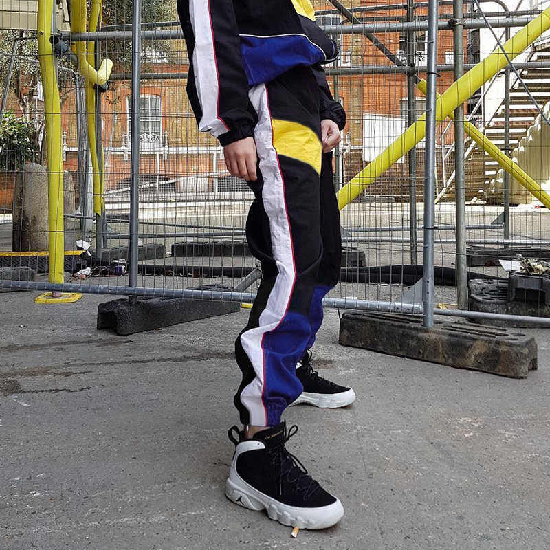 Weekeep 女性ハイウエストパッチワークパンツ 2018 夏のスケートボードのパンツストリートカーゴパンツジョガー女性底