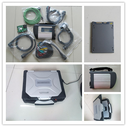 Flash Promo c4 diagnostic scanner mb star c4 with software ssd super with laptop cf30 full set ready to use 2 years warranty