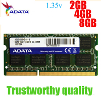 Brand ADATA RAM DDR3 8GB 1600MHz Ram Memory 204 Pin SO DIMM 1333 Compatible For Lenovo