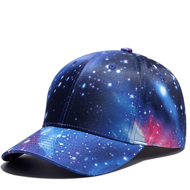 Prix pour Nouveau 3d imprimer galaxy unisexe casquette de baseball hommes snapback chapeaux de vacances loisirs gorras de beisbol Hip hop Cap Femmes Sport Soleil chapeau