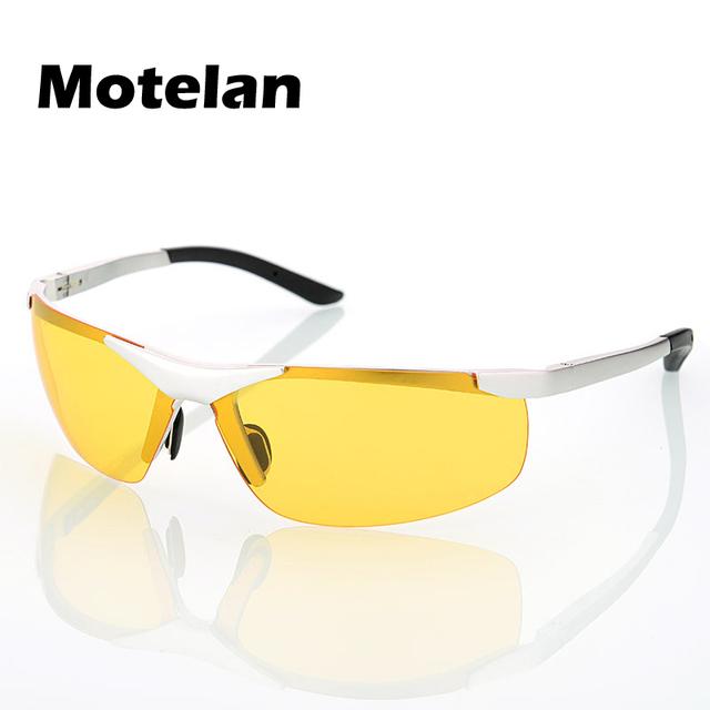 Nueva visión nocturna polarizada noche antideslumbrante conducción pesca gafas de sol polarizadas de los hombres gafas de sol lentes de visión nocturna